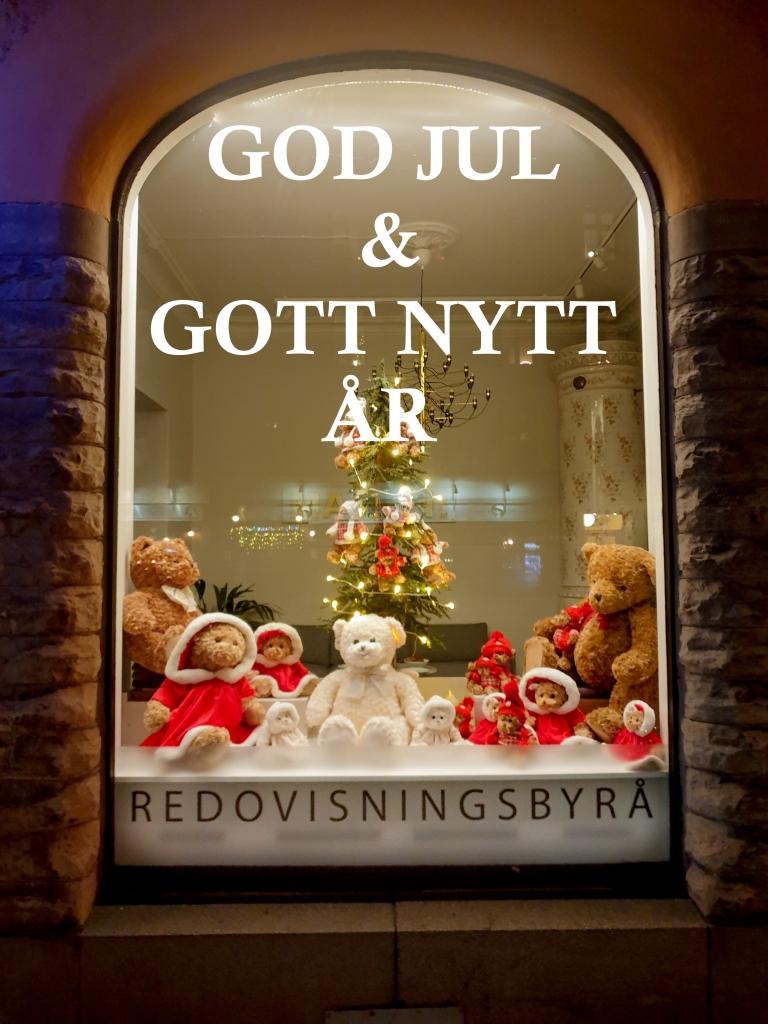 Skyltfönster God Jul och gott nytt år